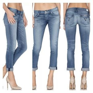 HUDSON Ginny Skinny Ankle Jeans -Straight Cuff Leg
